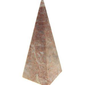 Mexico Stone Pyramid 1990s Pink Polished Marble 6""